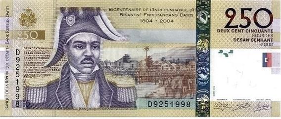 Grr-billete De Haití 250 Gourdes 2004 - J. J. Dessalines