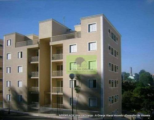 Imagem 1 de 28 de Apartamento Com 2 Dormitórios À Venda, 55 M² Por R$ 250.000,00 - Granja Viana - Cotia/sp - Ap0065