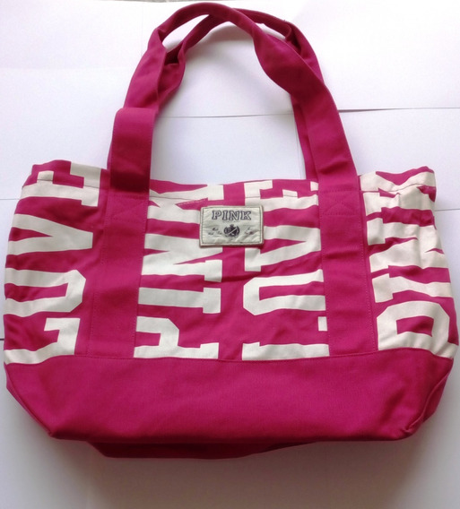 Bolso De Tela Pink Original