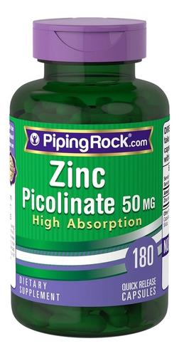 Picolinato De Zinc Picolinate 50mg 180 Caps Sist Inmune Acne