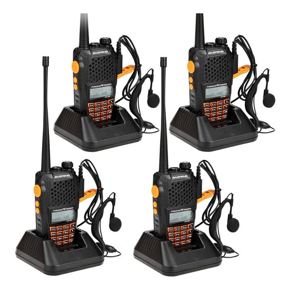 Kit X4 Handy Baofeng Radio Walkie Talkie Uv-6r Vhf/uhf Cuota