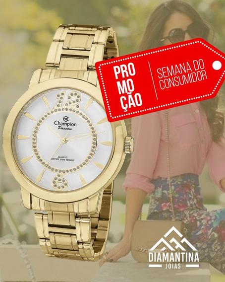 Relógio Feminino Dourado Champion Ch24259h
