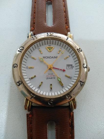 Relógio Mondaine Antigo Com Alarme
