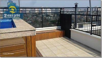 Cobertura Com 4 Dormitórios - 4 Vagas De Garagens - Com Piscina Para Venda Próximo Do Bairro Jardim. - Co1257