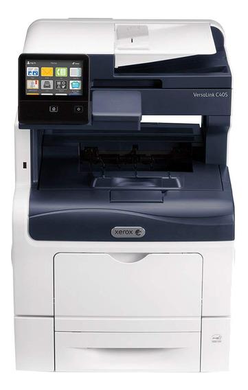 Impressora a cor multifuncional Xerox VersaLink C405/DN com wifi 110V - 127V branca e cinza