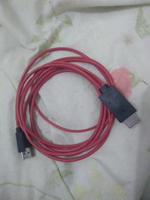 Adaptador De Celular Para Hdmi + Usb, V8. Sansung, Cabo G
