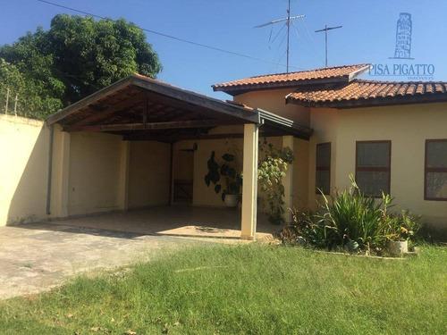 Chácara Com 3 Dormitórios À Venda, 926 M² Por R$ 555.000,00 - Parque Da Represa - Paulínia/sp - Ch0028