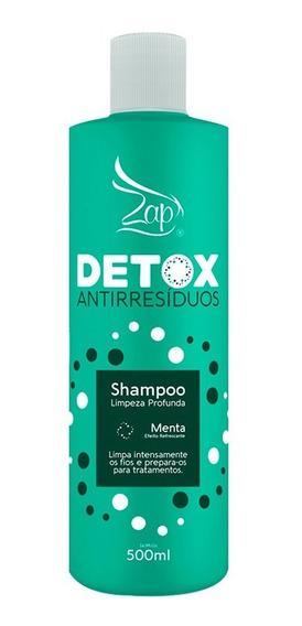 Shampoo Detox Antirresíduo Menta Zap 500ml