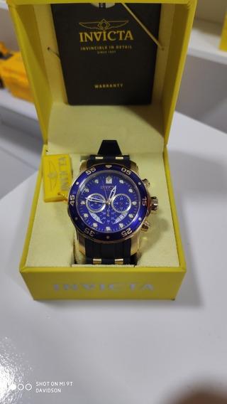 Relógio Invicta Pro Diver 21928 21929 6981 6983 Banhado Ouro
