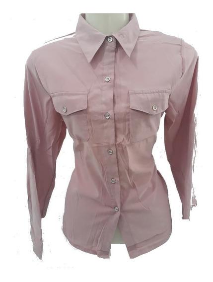 Camisa Social Rose Moda Evangélica Cristã Secretária M
