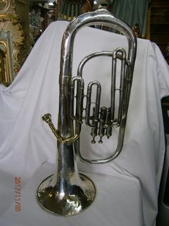 Instrumento Musical Tuba En Bronce Baño En Plata Philipp