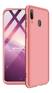 Funda 3 En 1 Luxury P/ Samsung A20 A30 A50 Rigida + Glass