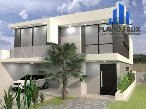 Imagem 1 de 6 de Casa A Venda 320 M²  Real Park Arujá 4 Suítes Área Gourmet - 758