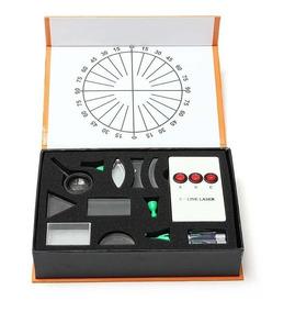 Refrator Óptico Prisma Lupa Espelho Laser Kit Experimentos