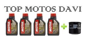 Troca 4 Óleo Motul 5100 10w 40 + Filtro Gsx 650 750 F 99/09