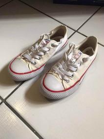 Tênis Super Star Branco C/ Vermelho C/ Pequeno Defeito T. 36