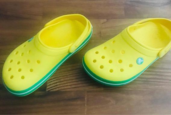 Crocs Amarillas Talle 4-6