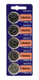 5 X Pilas Boton Cr2032 Sony / Murata 2032 San Martin