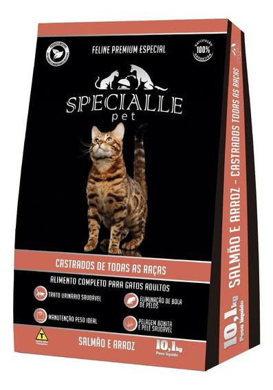 Ração Specialle Pet Feline Castrado Salmão 10,1kg