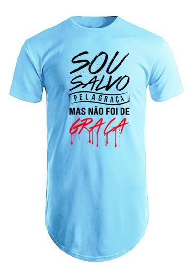 Camiseta Camisa Blusa Masculina Salvo Pela Graça Gospel