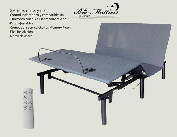 Cama Electrica Matrimonial Bio Mattress Modelo Boston