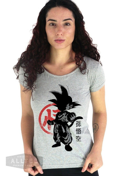 Camiseta Geek Nerd Goku Dragon Ball Z Camisa Feminina Anime