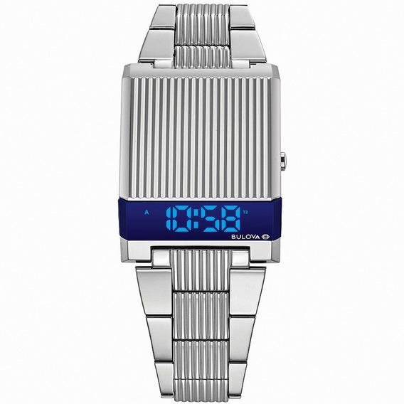 Nuevo Reloj Bulova Computron 96c139 H Led Hombre Original
