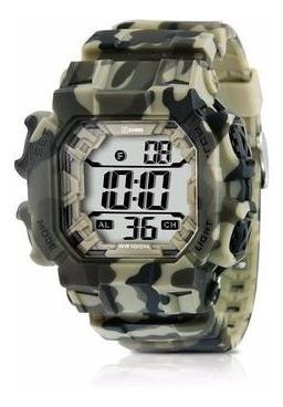 Relógio Esporte Borracha Camuflado Grande Xgames Xmppd085