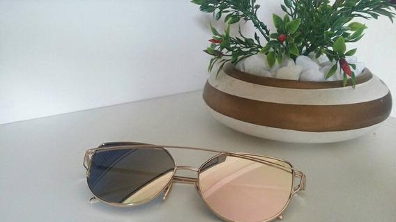 Óculos Espelhado Rose Gold
