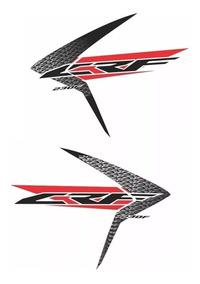 Adesivo Grafico Replica Crf 230 2015 Aleta Do Tanque (par)
