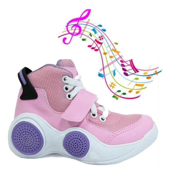 Tenis Musical Infantil Botinho Toca Musica Por Bluetooth