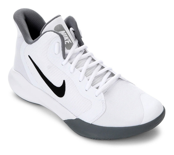 Tênis Nike Precision Iii - Branco E Preto + Brinde