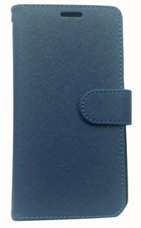 Flip Cover Samsung A20/ A30 + Vidrio Templado (azul/fucsia)