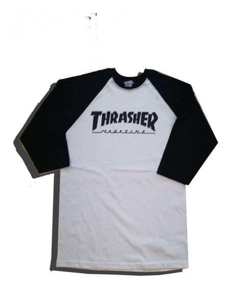 Playeras De Thrasher Tres Cuartos
