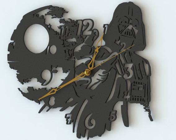 Reloj De Pared Darth Vader Star Wars Analógico 20cm