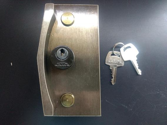 3530 - Fechadura Para Porta De Correr Bronze Vidro Temperado