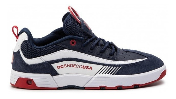 Tênis Dc Shoes Legacy Slim 98 - Navy Red