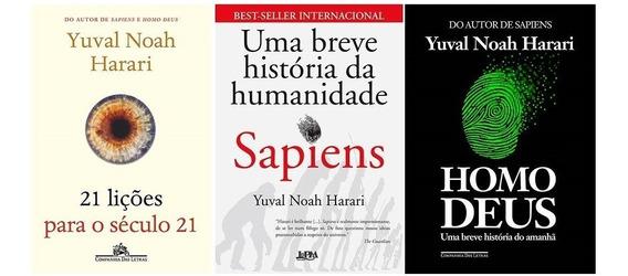 Kit 21 Lições + Sapiens + Homo Deus (3 Livros) Yuval Noah