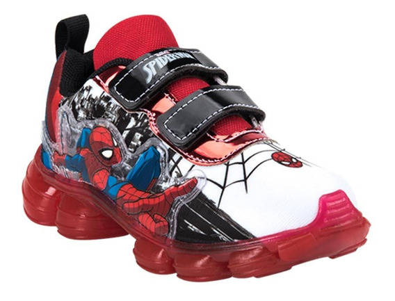 Tenis Casual Niño Spiderman 4526 Color Blanco