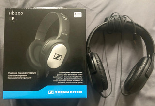 Sennheiser Hd206 Audifonos Over-ear Sin Ruido Externo Negro