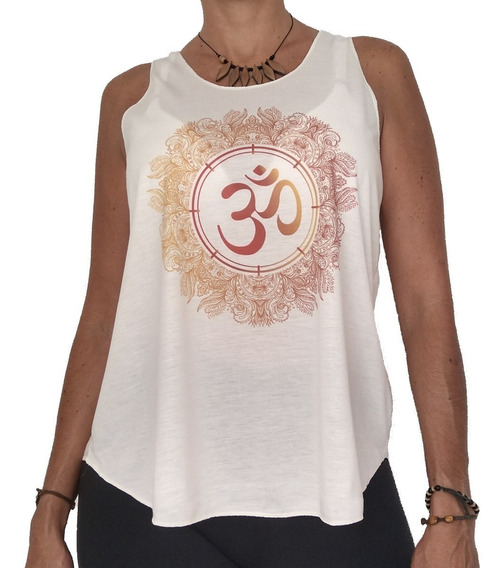 Camiseta Blusinha Feminina Regatinha Om Yoga Índia Mandala J
