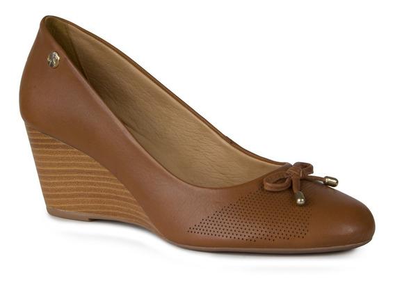 Sapato Feminino Anabela Bottero Ref:306827 Couro