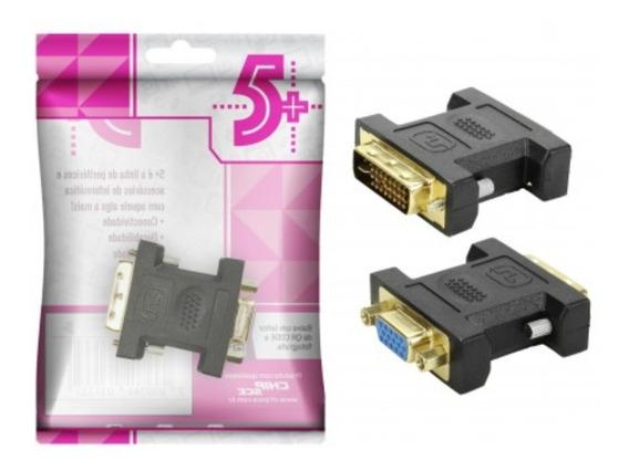 3x Adaptador Conector Dvi Digital Macho 24+5 Para Vga Fêmea