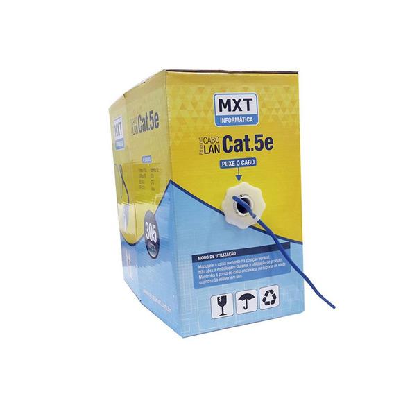 Cabo De Rede Mxt Ic305b 25 Metros Cat.5e 100% Cobre Anatel