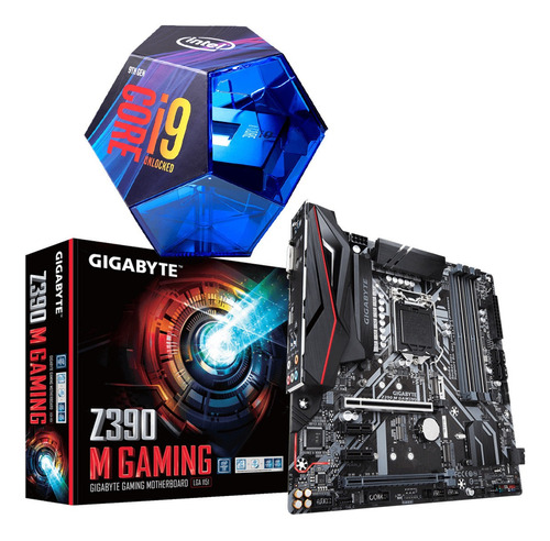 Kit Intel Core I9 9900k + Z390m Gaming