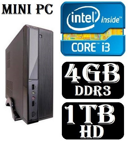 Mini Cpu Pc Desktop Intel Core I3 4gb Ddr3 Hd 1tb Dvd-rw