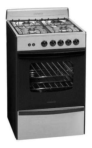 Cocina A Gas Longvie 13331xf 56cm Inox Cajón Parrilla