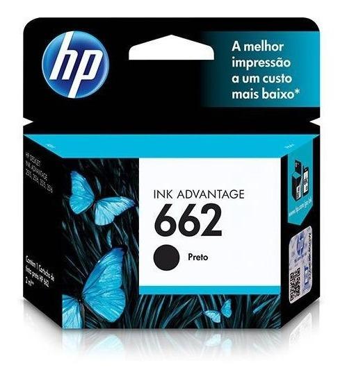 Cartcuho De Tinta Preto Hp 662 Ink Advantage - Cz103ab - Hp