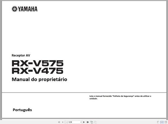 Manual Em Português Do Receiver Yamaha Rx-v575 Rx-v475