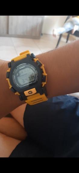 Relíquia G Shock Dw-003 Amarelo E Preto Impecável